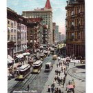 Broadway from St Paul's New York ca 1910 Trolley Vintage Postcard Leighton NM