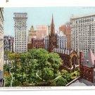 Trinity Church Skyscrapers New York ca 1910 Photostint NM Vintage Postcard