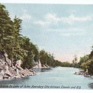 Entrance Lake of Isles Rift Thousand Islands NY ca 1910 Leighton Vintage Postcard