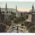 Victoria Square Montreal ca 1910 Vintage Postcard