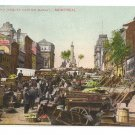 City Hall Cartier Market Montreal ca 1910 Vintage Postcard