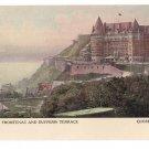 Chateau Frontenac Dufferin Terrace Quebec Canada c 1910 Vintage Postcard