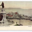 View from Chateau Frontenac Quebec Canada c 1910 Vintage Postcard