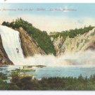 Montmorency Falls Quebec Canada c 1910 Vintage Postcard