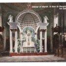 Interior St Anne de Beaupre Quebec Canada c 1910 Vintage Postcard