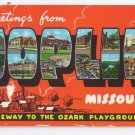 Greetings from Joplin MO Large Letter Postcard Curteich Chrome