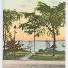 Fort Allen Park and Harbor Portland ME Langdorf E 6568 ca 1910
