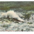 Surf at Old Orchard Beach ME ca 1910 EXC