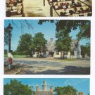 Williamsburg VA Lot of 3 Tavern Church Palace Vintage Chrome postcards