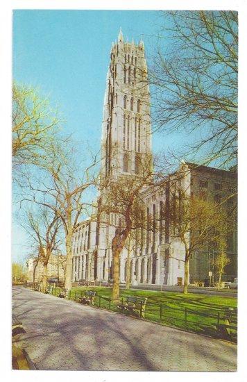 Riverside Church New York Vintage Postcard NY 1960