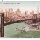 Brooklyn Bridge East River New York Vintage Tammen Postcard NY