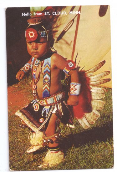 Native American Pawnee Dancer Little Nonnie St. Cloud MN