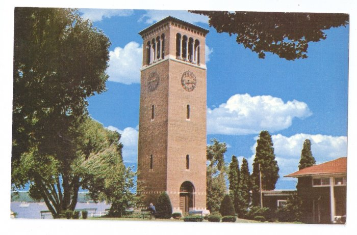 Miller Bell Tower Chautauqua Institution NY Vintage Postcard