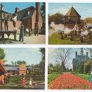 Williamsburg VA 4 Vintage postcards Motel Public Gaol Militia Gardens
