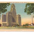 Buffalo NY New City Hall Linen Metrocraft