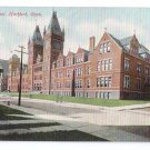 Hartford CT High School Vintage Post Card UND
