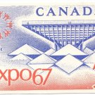 Expo 67 Postcard Repro Canada Pavillion Stamp