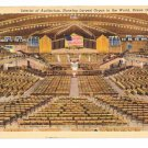 Ocean Grove NJ Interior Auditorium Largest Organ Curteich Linen 1943