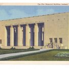 Jackson MS War Memorial Building Curteich 1941 Linen Postcard