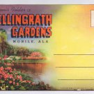 Alabama Mobile Bellingrath Gardens Souvenir Folder Linen Postcard