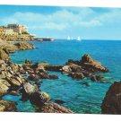 Italy Rapallo Postcard Villas Sailboats Tigullio Gulf 4X6