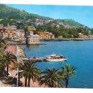 Italy Rapallo Ferry Harbor Tigullio Gulf Postcard 4X6