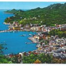Italy Genoa Santa Margherita Ligure Harbor Panorama Postcard 4X6