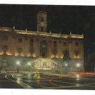 Italy Rome Capitole Compidoglio Capital at Night Postcard 4X6