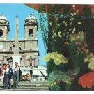 Italy Rome Spanish Square Steps Piazza Spagna Postcard 4X6