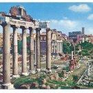 Italy Rome Roman Forum Ruins Columns Postcard 4X6
