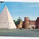 Italy Rome Pyramid Caius Cestus St Pauls Gates Postcard 4X6