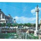 Italy Rome Victor Emmanuel Monument Trajan Column Postcard 4X6
