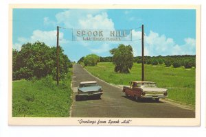 Lake Wales FL Spook Hill 1968 Postcard