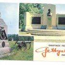 PA Gettysburg Greetings Civil War Lincolns Speech memorial