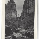RP Greece Meteora Monasteries Rocks Real Photo Post Card