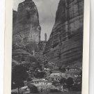 RP Greece Meteora Monasteries Rocks Real Photo Post Card