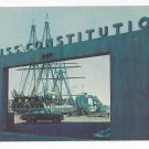 USS Constitution Postcard US Naval Shipyard Charlestown MA