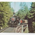 Train Railroad Postcard California Western 46 Baldwin 2-6-6-2 Steam Engine 1972