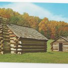 Valley Forge PA Log Cabin Huts Vintage Postcard National Park