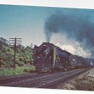 Train New York Central 6012 Steam Locomotive Vintage Postcard