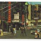 NY Chinatown New York Mott Street 1960s Nester's Postcard K-142