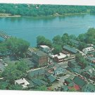 New Hope Bucks County PA Delaware River Aerial View 1970 Postcard