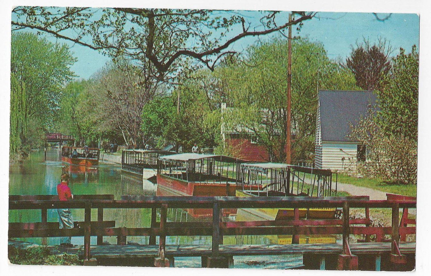 New Hope Bucks County PA Barges Delaware Canal 1963 Postcard