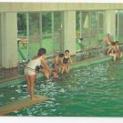 Pocono Manor Inn PA Indoor Outdoor Swimming Pool Vintage Hotel Postcard