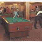 Pocono Manor Inn PA Game Room Pool Table Billiards Hotel Postcard