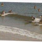 New Jersey Surfers Ocean Vintage Tichnor Postcard
