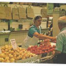 Amish Pennsylvania Dutch Farmer's Market Produce Vintage Postcard