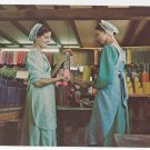 Leola Pa Amish Girls Old Candle Barn Vintage Postcard