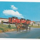 Strasburg PA Railroad and Red Caboose Motel Amish Man Courting Buggy Postcard