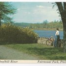 Philadelphia PA East River Drive Cherry Blossoms Fairmount Park 1976 Postcard